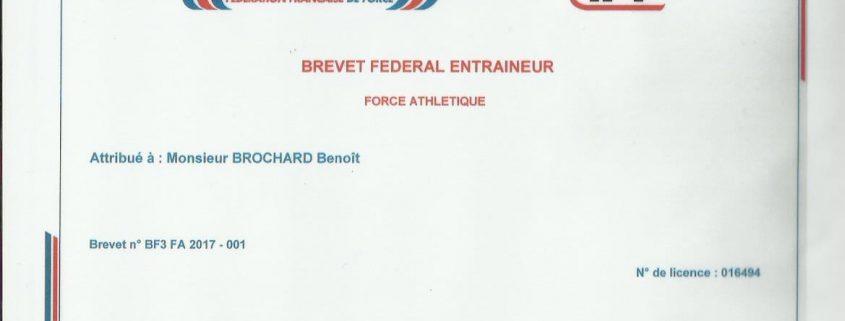 diplôme Benoit